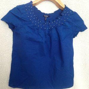 Daisy Fuentes Blue Blouse